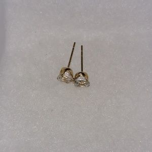 Jewelry - 14K Gold lab made diamonds stud earrings